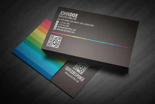 Quick response business card design