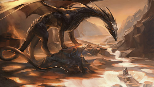 Inspiring Digital Illustrations Of Dragons