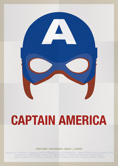 Captain America - famous movie posters