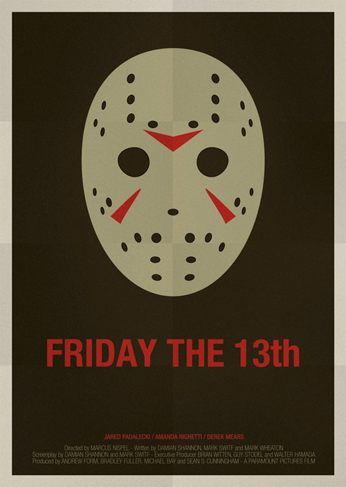 Friday the 13th- famous movie posters
