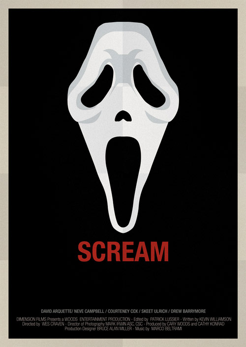 Scream - famous movie posters