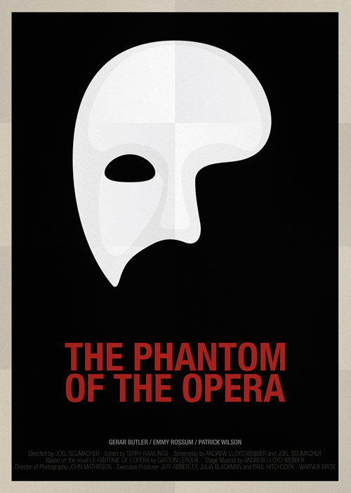 The Phantom of Opera - famous movie posters