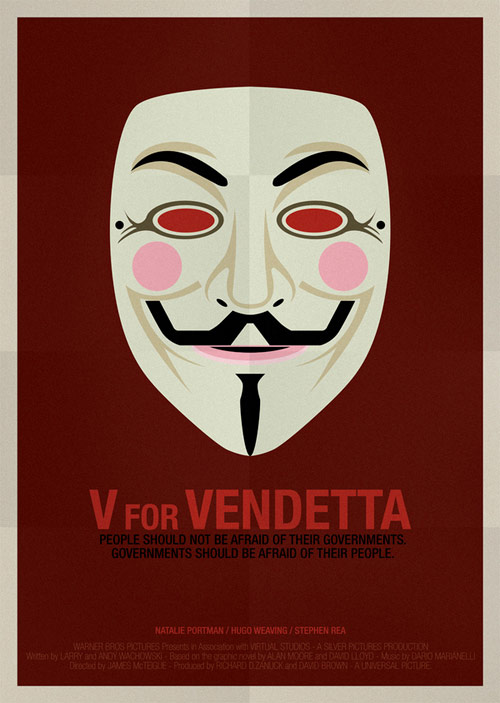 V for Vendetta - famous movie posters