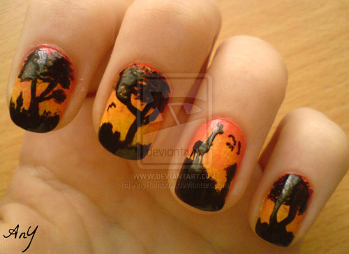 Africa Nail Design - 35 Creative Nail Art Designs - Boost Inspiration