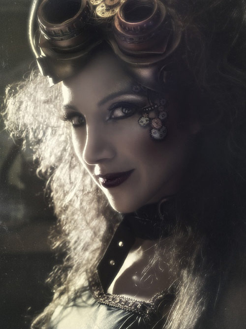 steampunk fashion photography