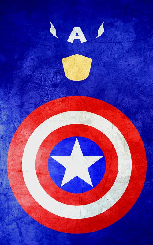 superhero minimalist posters