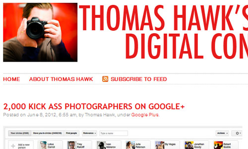Image of Thomas Hawk Website