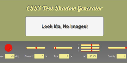 css3 text shadow generator