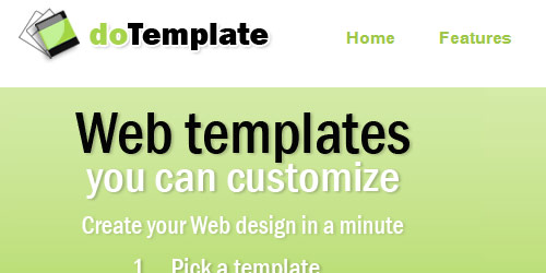 doTemplate - Best Free Website Builders
