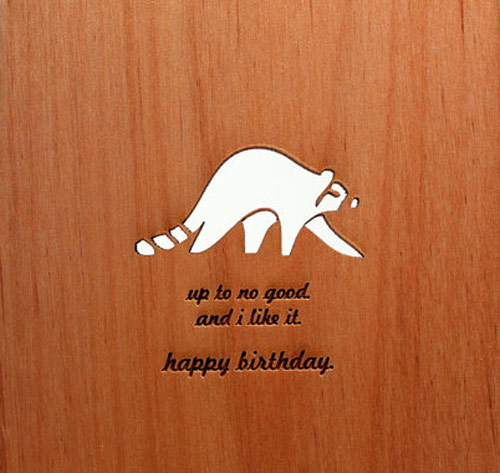 Wood Birthday Card