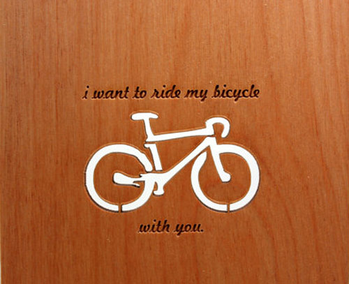 Wood Card - Laser Cut Bicycle