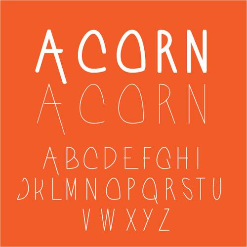 Acorn Typeface