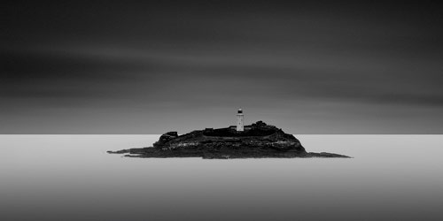 Godrevy Lighthouse in Black and White Photography