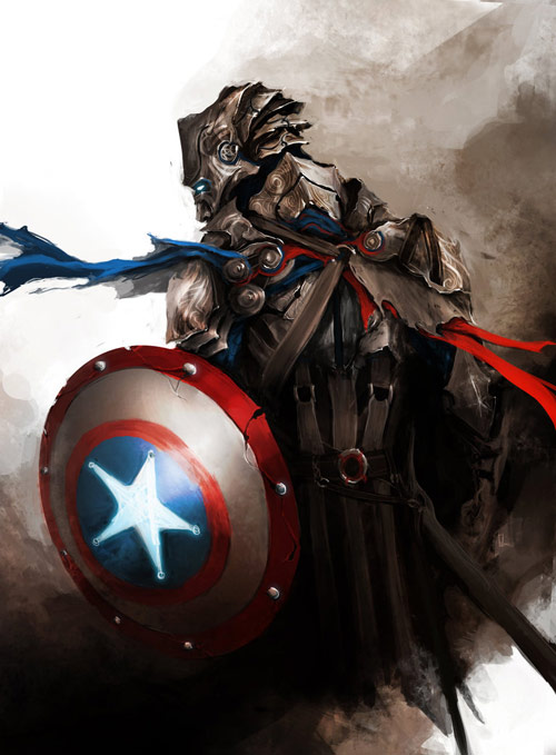 Captain America in The Avengers Characters Fan Art