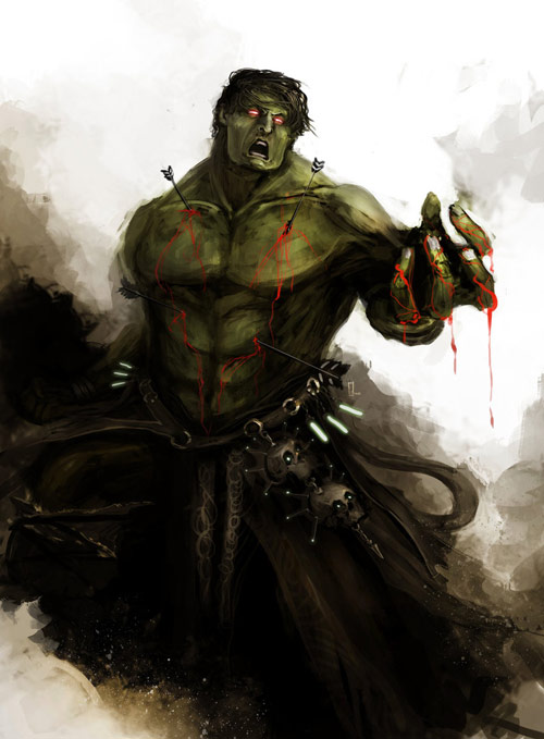 Hulk in The Avengers Characters Fan Art