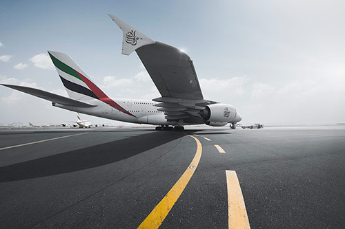 The Giant A380 at Dubai Airport