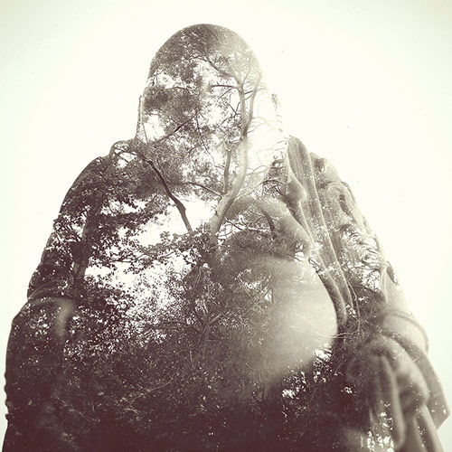 Double Exposure - Buddha Ornament - Woodland