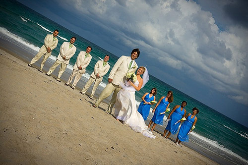 Wedding Party Portraits on the Beach