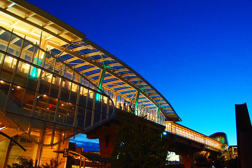 Canada Line - YVR in Blue Hour