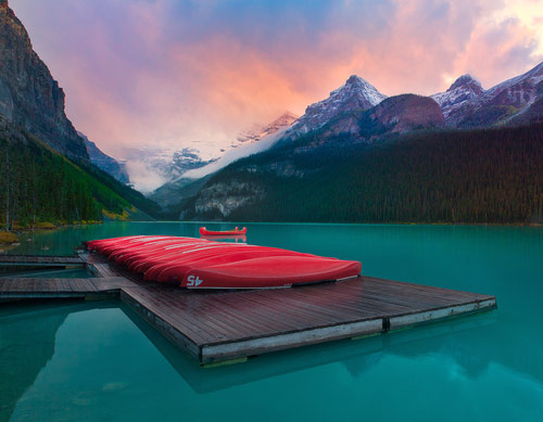 Lake Louise On Fire