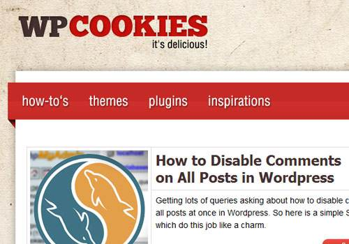 WP Cookies - learn wordpress development