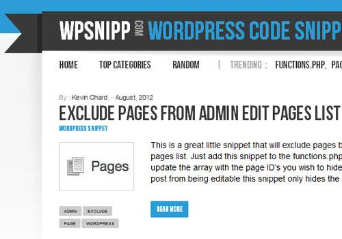 WP Snipp - learn wordpress development