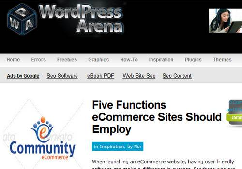 WP Arena - learn wordpress development
