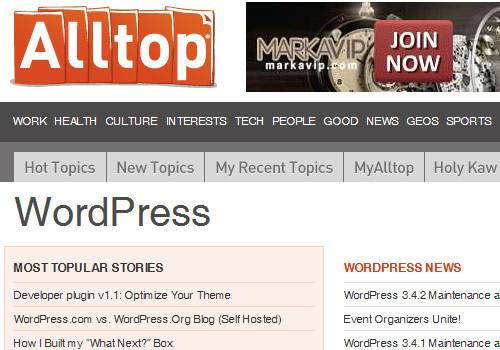WordPress Alltop - learn wordpress development