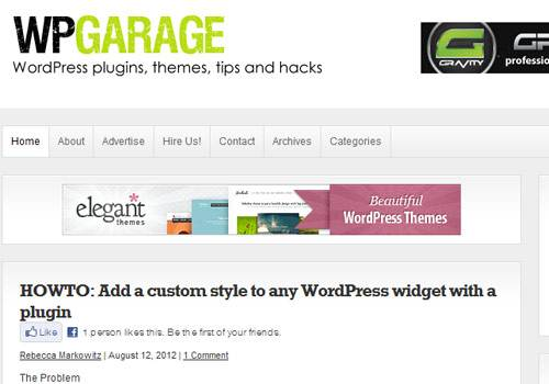 WP Garage - learn wordpress development