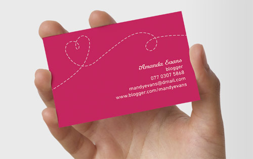 Handmade Pink Business Card