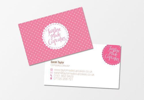 25 vibrant pink business cards 3 taylor made cupcakes colourmoves
