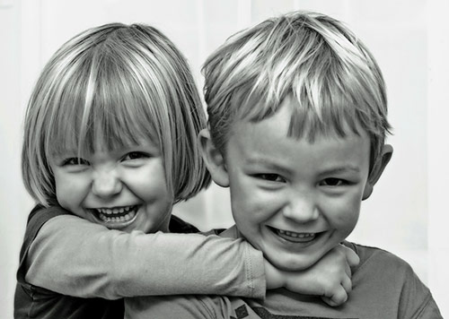 Cute Smile of Sibling