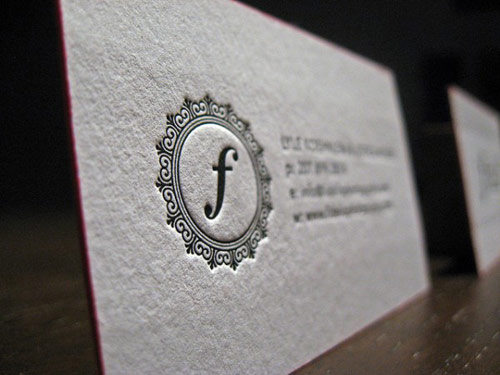 55 awesome white letterpress business cards fidelio photography reheart Gallery
