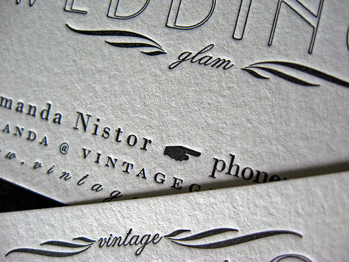 A Vintage Glam Business Card