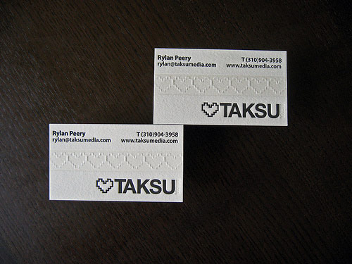 Taksu Media Business Cards