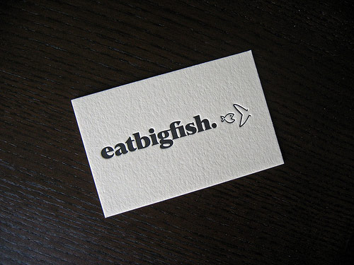 Business Cards for eatbigfish