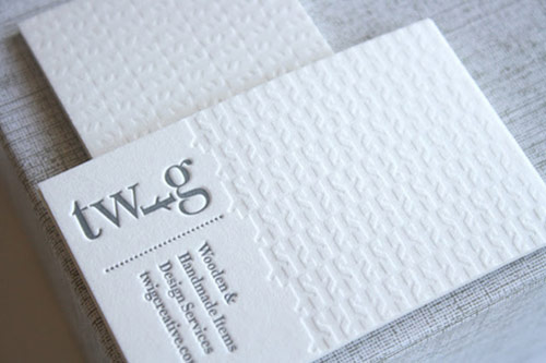 Clean White Letterpress