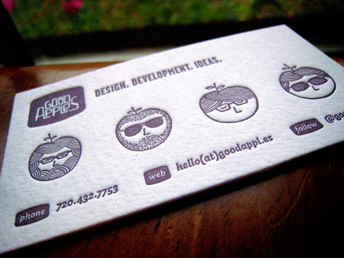 Good Apples | Letterpress Business Card