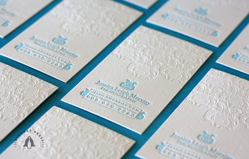 Jessica Morrisy Letterpress Business Cards
