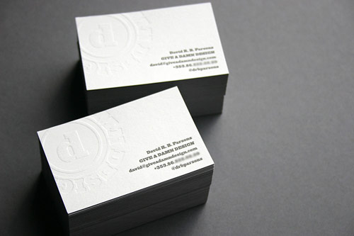 Duplex Letterpress Business Cards