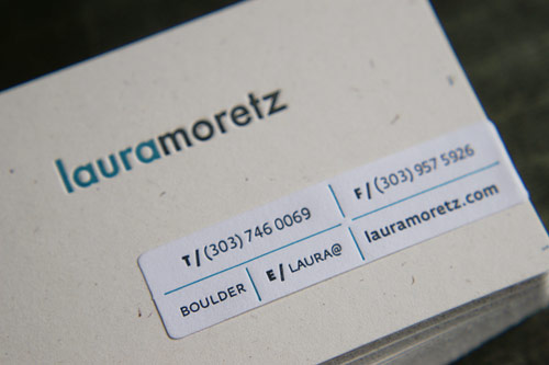 Letterpress Business Card: Moretz