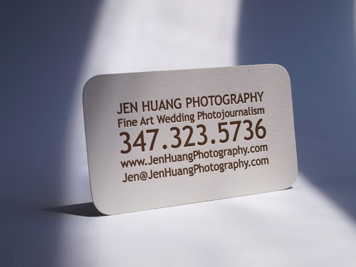 Letterpress Business Card for Jen Huang