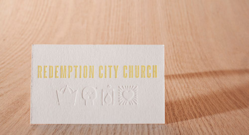 Redemption City Letterpress Business Cards
