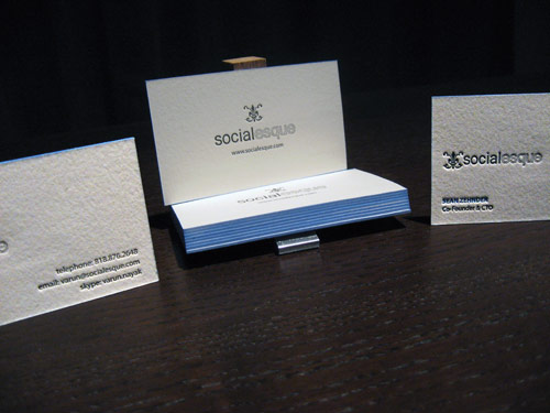 Socialesque Letterpress Business Cards