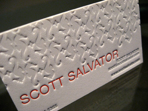 Scott Salvator Letterpress Business Cards