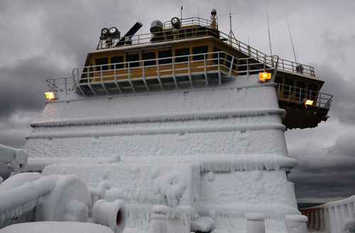 The deck of the research vessel NATHANIEL B. PALMER in antarctica pictures