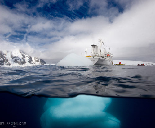 Antarctic Underwater Iceberg in antarctica pictures