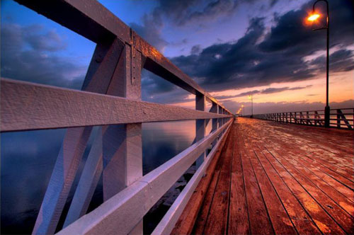 The Shorncliffe Jetty (pier), near Brisbane, Australia