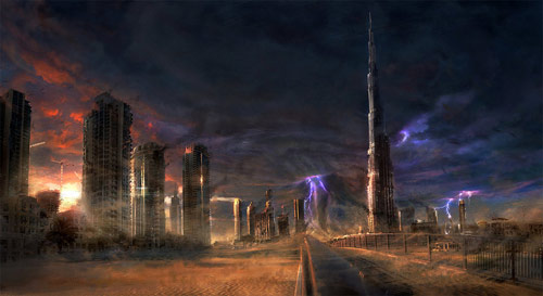 Dubai Ruins in concept art