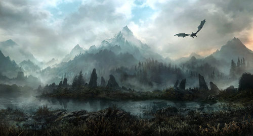 Land Of Skyrim in concept art